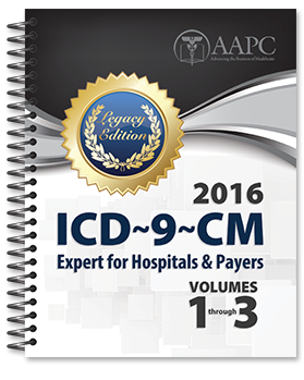 2016 ICD-9-CM Expert for Hospitals, Vol 1-3