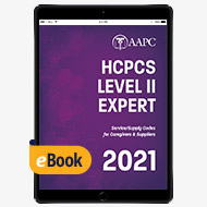 2021 HCPCS Level II Expert - eBook