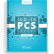 2019 ICD-10-PCS Expert Complete Code Set