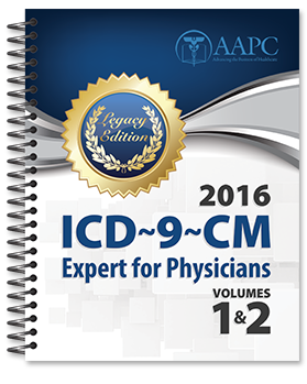 2016 ICD-9-CM Expert for Physicians, Vol 1-2