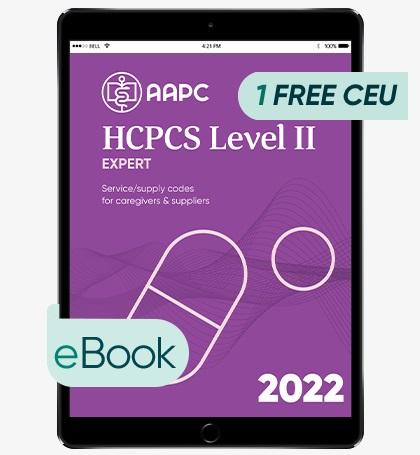 HCPCS Level II Expert 2022 - eBook