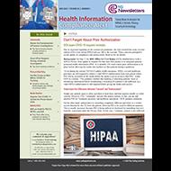 Health Information Compliance - eNewsletter