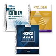 Exam Book Bundle 2020  (CPT, HCPCS, ICD-10-CM)