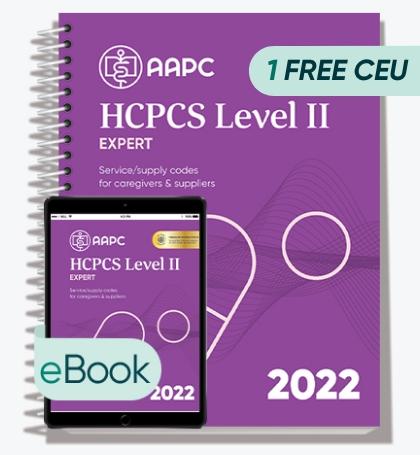 HCPCS Level II Expert 2022 - Print + eBook